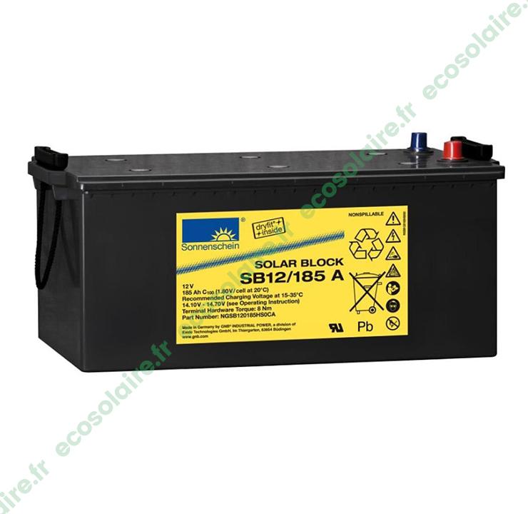 Batterie solaire gel 12V 85 Ah dryfit Sonnenschein sur le
