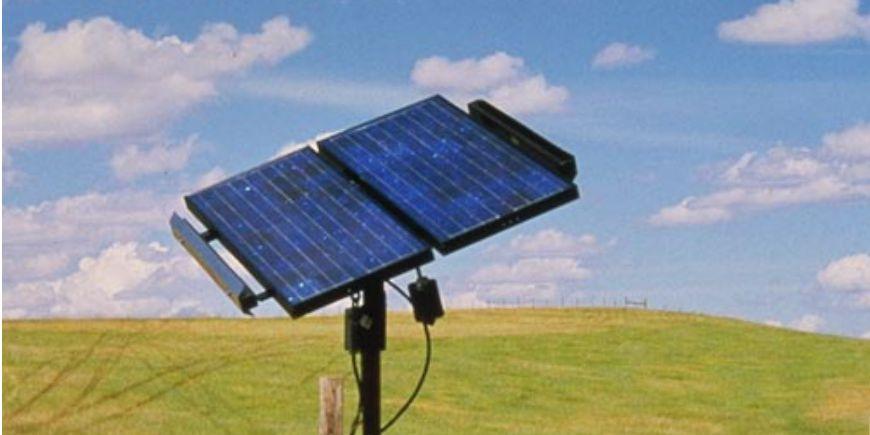 Panneau solaire sur tracker