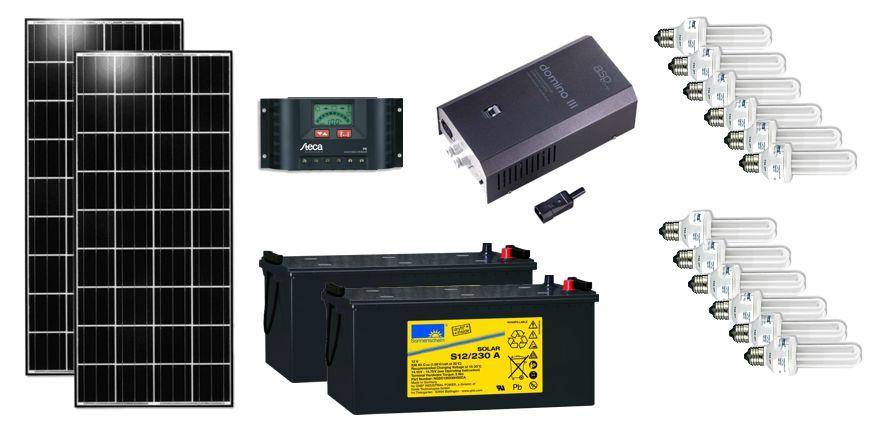Système solaire d'éclairage 230VAC pour le Bénin